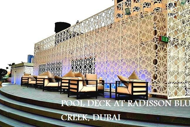 Pool Deck at Radisson Blu Creek Dubai