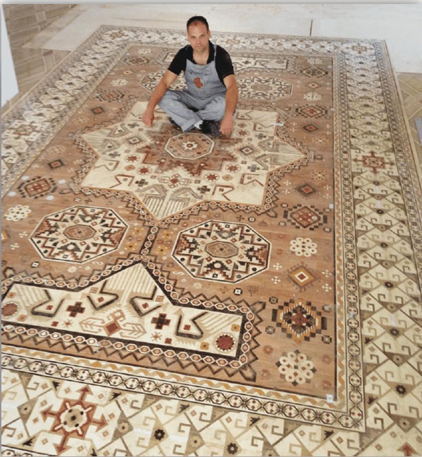 A Man with Parquet Carpet